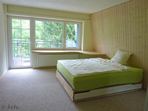 Gästezimmer im «Rohzustand» – noch fehlen Vorhänge, Lampen und Deko.