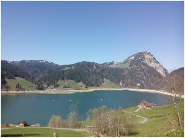 Blick über den See in Richtung «Haus am See»